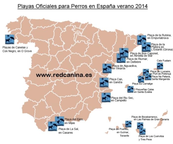 Playas para perros en España 2014