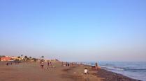 Vista de la playa para animales de compañía en La Cala Del Moral