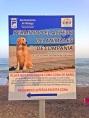 Cartel de la playa para animales de compañía de La Cala Del Moral